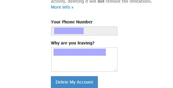 علت حذف حساب تلگرام
